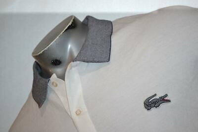 9563-a Mens LACOSTE Polo Shirt Size 4XL 100% Cotton BIG Alligator