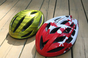 Two BELL Brand Bicycle Helmets $10 each