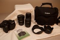 Canon T3i With Three Lenses + Bag