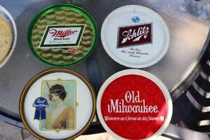 Set of 4 Vintage Beer Trays