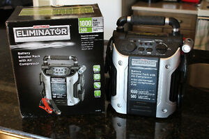 BATTERY BOOSTER PACK/AIR COMPRESSOR - $160