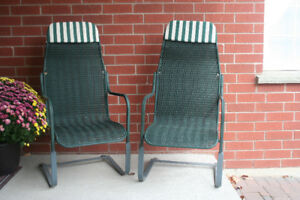 Rocking Hi Back Outdoor Chairs