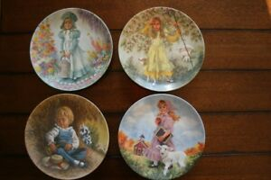 """Collector Plates Set of 8 """"Mother Goose"""" Series by J. McClelland"""