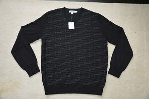 BRAND NEW Mens Clothing MED (CK Wool Sweater, Le Chateau Belt)