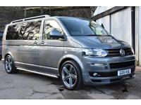 2015 15 VW T5 Transporter Shuttle 2.0TD 140PS LWB Mini Bus T30 SE Sportline Pk