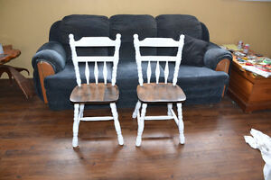 Reduced, 4 redone kitchen chairs.