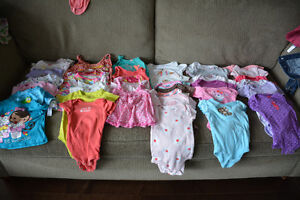 Large lot of 9 month baby girl clothes