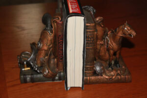 western style book ends