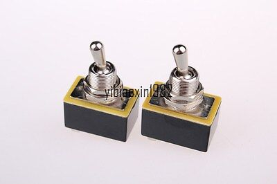 New Spst 1p1t On-off 2 Position Panel Mount Toggle Switch 2pcs