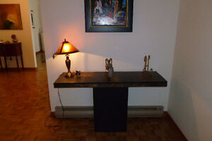 MobiliaEntrance table, black with multi-color tile covered top. West Island Greater Montréal image 1