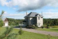 Updated Century home on Beautiful 3 acres with a view,Burnstown