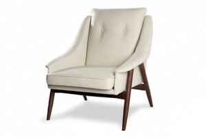 BONDED LEATHER ACCNET CHAIR USED FOR HOME STAGING, ONLY $300