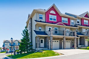 Panorama Hills Corner 3 bedroom townhouse with walkout basement