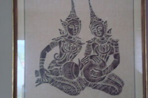 vintage tibetan temple rubbings and artwork Kingston Kingston Area image 3