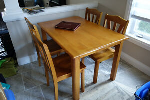 Kitchen Dining Table + 4 Chairs