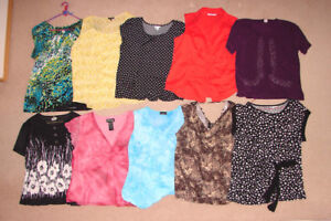 40+ Tops (some new), Dresses (1 new), Jackets (1 new) - 16, XL