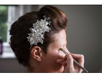 Ivory wedding headband with crystals, beads and pearls