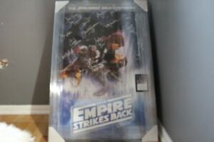 Star Wars Empire Strikes Back Cast Signed Framed Poster