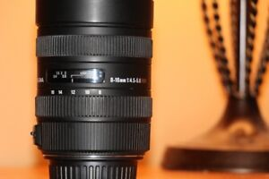 Sigma 8-16mm f/4.5-5.6 DC HSM Ultra Wide Zoom - Canon