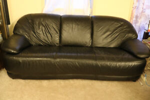 Good quality Black Leather Sofa  for $200