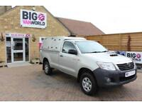 2013 TOYOTA HI-LUX HL2 144 4X4 D-4D SINGLE CAB WITH TRUCKMAN TOP PICK UP DIESEL