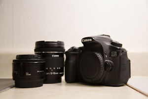 Canon 60D with 10-18mm EFS lens & 50mm EF 1.8 lens