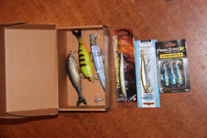 Fishing tackle and baits. See ad for prices.