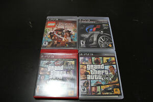 Four different PS3 games.