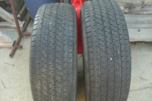 TWO P 235-70-R 15 INCH UNIROYAL LARADO TIRES