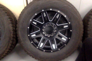 4  265/60/18'' cooper winter tires on universal fit alloy rims