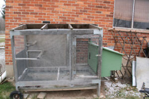 Chicken Cage and Attached Enclosure