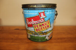 Old Barbour's Peanut Butter Tin - Cowboys