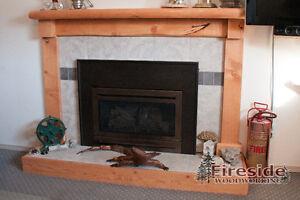 Wood Mantels - Live Edge, Timbers, Beams & Log