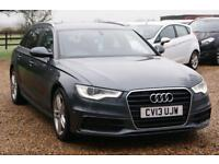 2013 13 AUDI A6 2.0 AVANT TDI S LINE 5D 175 BHP DIESEL, SAT NAV, HEATED LEATHER