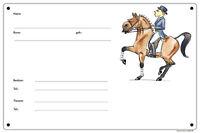 Scatola - Sign, Targa Fumetto Cavallo Di Dressage Per Tutti Artista In Quadrato -  - ebay.it