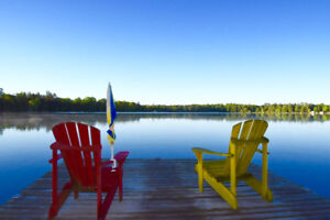 Private 3  bedroom Lakefront Cottage with sandy Beach