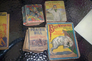 lot of 7 old Books 1933-35 Buck Rogers, Prairie Bill, B.Whiskers