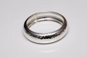 Bracelet en métal martelé argenté