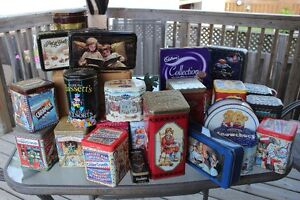 Assorted collectible tins