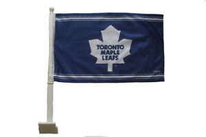 Toronto Maple Leafs BLUE NHL Logo Heavy Duty Car Flag 28 X 47