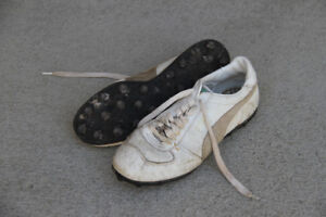 Rubber soled cleats
