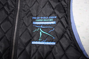 2006 World Jr. Figure Skating vest - Black & Periwinkle blue Kitchener / Waterloo Kitchener Area image 5