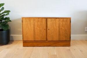 Small Danish Credenza : Teak tambour doored danish credenza with china cabinet sold