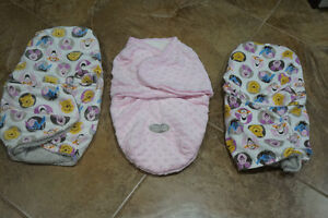 All 3 baby swaddles for only $15.00