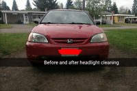 Mobile Headlight Restoration Service