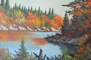 """C M Bowman Painting """"OTTAWA VALLEY"""" OIL ON BOARD 21x25 INCHES"""