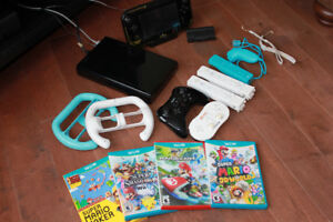 NIntendo Wii U Zelda edition with extra games, controllers
