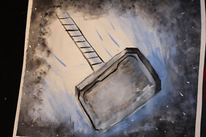 MARVEL THOR'S HAMMER PAINTING
