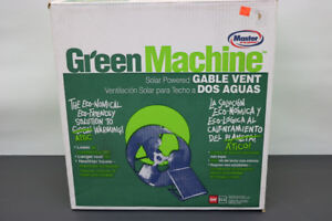Green Machine Solar Powered Gable Vent (#1812)