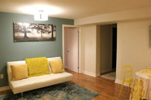 Stunning furnished 2 bdm basement apt
